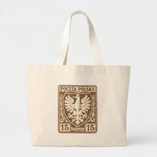 sello polaco de 1919 15h Eagle Bolsa Lienzo