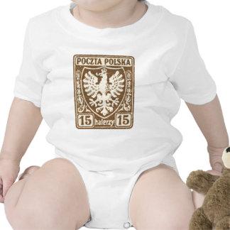 sello polaco de 1919 15h Eagle Trajes De Bebé