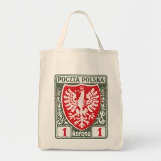 sello polaco de 1919 1k Eagle Bolsa