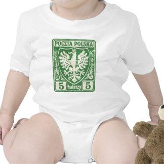 sello polaco de 1919 5h Eagle Trajes De Bebé
