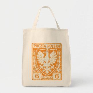 sello polaco de 1919 6h Eagle Bolsa