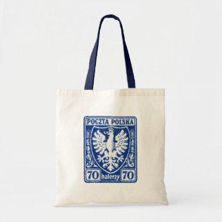 sello polaco de 1919 70h Eagle Bolsa Lienzo