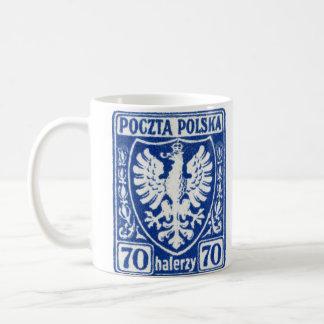 sello polaco de 1919 70h Eagle Taza De Café