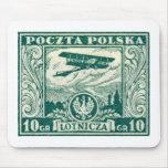 sello polaco del correo aéreo 1925 10gr tapetes de ratón