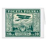 sello polaco del correo aéreo 1925 10gr felicitacion