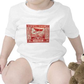 sello polaco del correo aéreo 1925 30gr traje de bebé