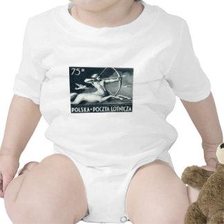 Sello polaco del correo aéreo 1948 75z trajes de bebé