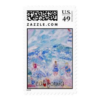 Sello postal de California