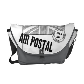 Sello postal del aire bolsas de mensajeria