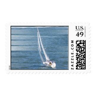 Sello postal del viento de la navegación
