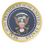 Sello presidencial: Bill Clinton: Platos