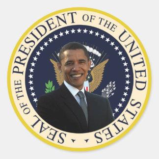 Sello presidencial de Obama Pegatina Redonda