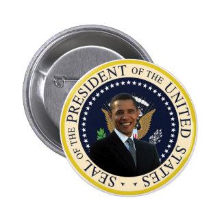 Sello presidencial de Obama Pin Redondo De 2 Pulgadas