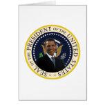 Sello presidencial de Obama Tarjeta De Felicitación