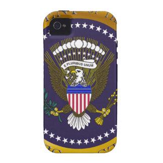 Sello presidencial del oro Case-Mate iPhone 4 fundas