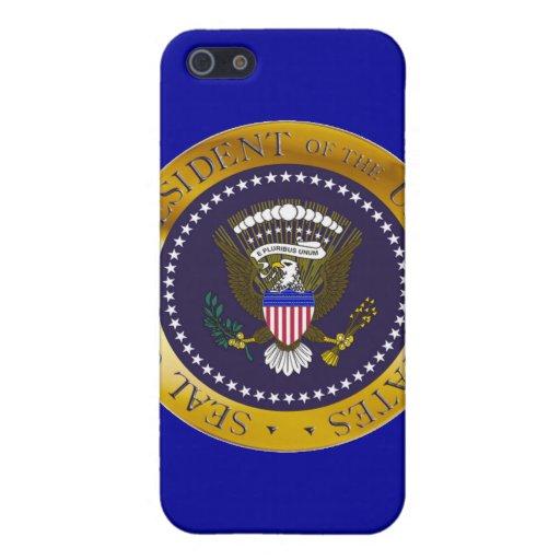 Sello presidencial del oro iPhone 5 funda