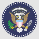 Sello presidencial etiqueta