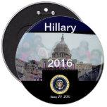 Sello presidencial Grassrootsdesigns4u de Hillary  Pin