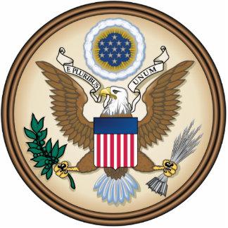 Sello presidencial oficial fotoescultura vertical