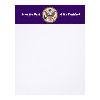 Sello presidencial oficial membrete a diseño