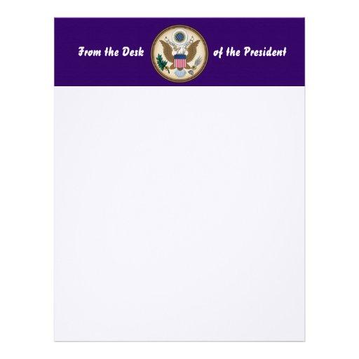 Sello presidencial oficial membrete personalizado