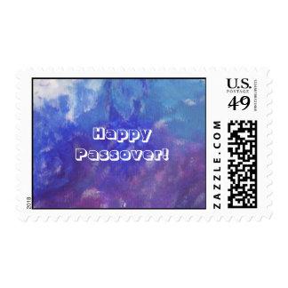 Sello púrpura azul del extracto feliz del Passover