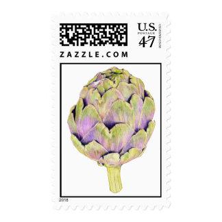 Sello púrpura de la alcachofa