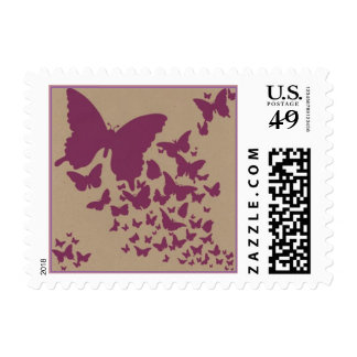 Sello púrpura de la mariposa (pequeño)