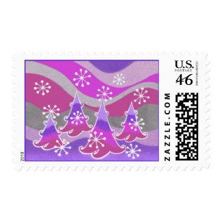 Sello púrpura de los árboles del invierno