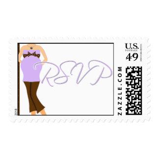 Sello púrpura de RSVP