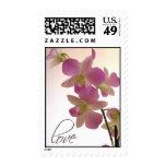 Sello púrpura del amor de la orquídea