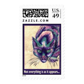 Sello púrpura del gato del GG