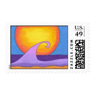 Sello púrpura del océano de la pasión