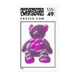 Sello púrpura del oso del dibujo animado
