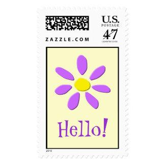 Sello púrpura feliz de la flor