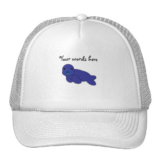 Sello púrpura lindo gorra