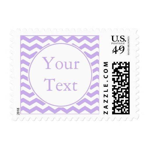 Sello púrpura moderno con el texto de encargo