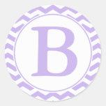 Sello púrpura redondo del sobre de los galones con etiqueta redonda