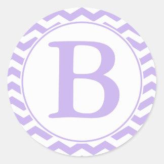 Sello púrpura redondo del sobre de los galones con pegatina redonda