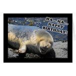 Sello que ríe feliz cumpleaños de la ha ha tarjeta de felicitación