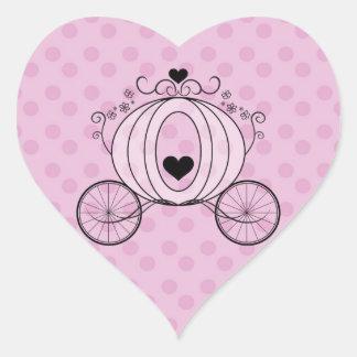 Sello real del sobre del carro calcomanías de corazones personalizadas