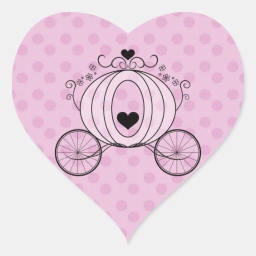 Sello real del sobre del carro pegatina en forma de corazón