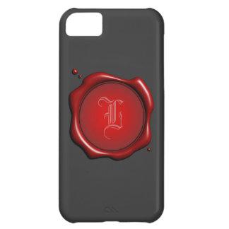 Sello rojo de la cera con la plantilla de la cubie funda para iPhone 5C