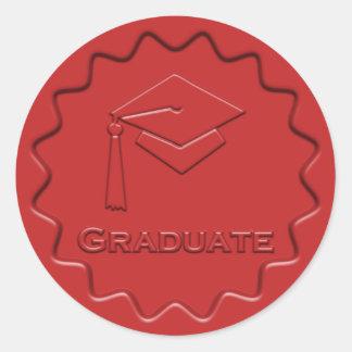 Sello rojo de la cera de la muestra graduada pegatina redonda