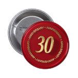 sello rojo de la cera del trigésimo aniversario pin