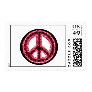 sello rojo de la paz