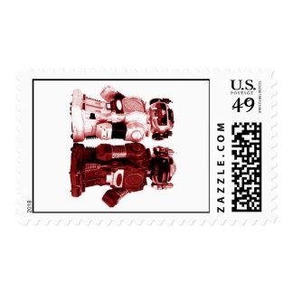 sello rojo de los robots