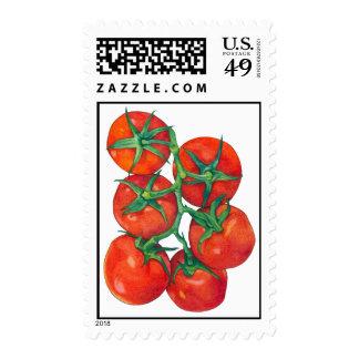 Sello rojo de los tomates