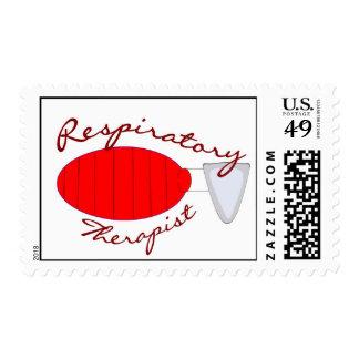 sello rojo del bolso de ambu del terapeuta