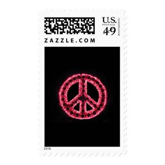 sello rojo del signo de la paz